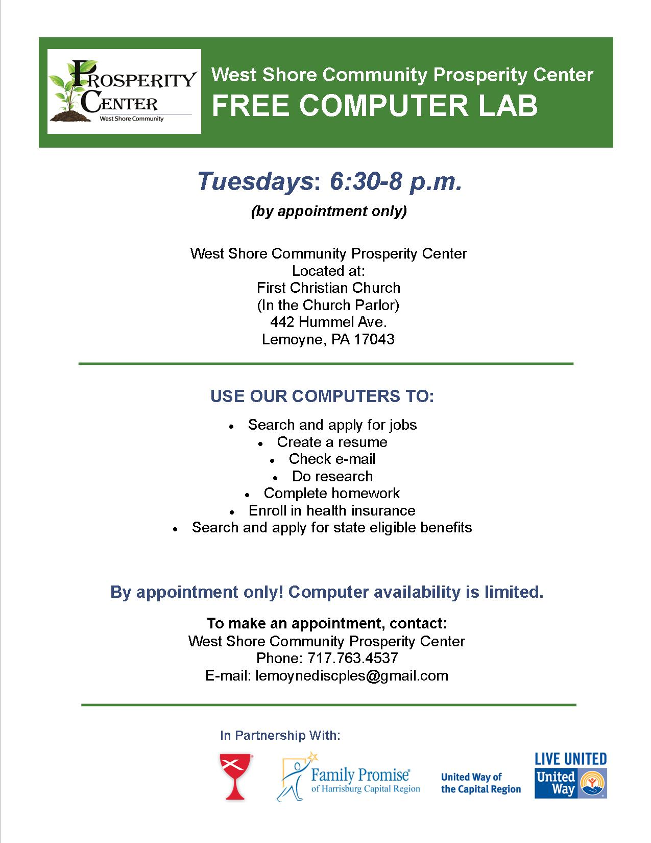 free computer lab christian church disciples of
