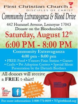 Community Extravaganza & Blood Drive