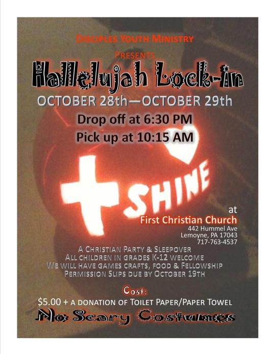 Hallelujah Lock-In Flyer