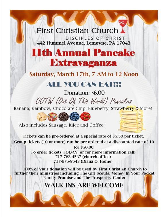 Pancake Extravaganza 2018