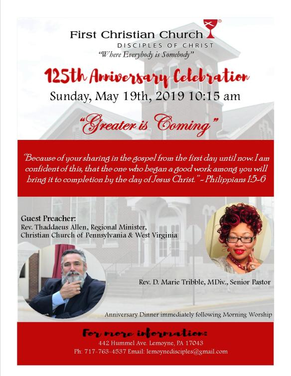 125th Church Anniversary Flyer
